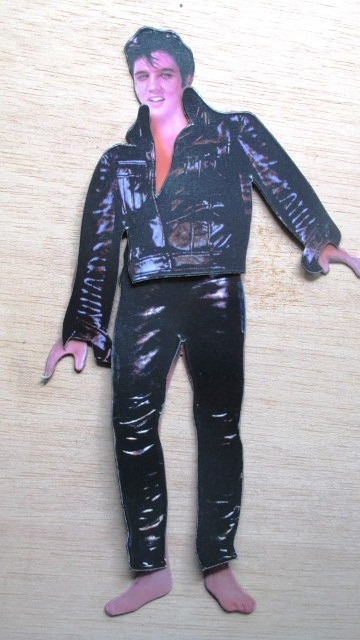 Elvis in '68 Special Black Leather Suit