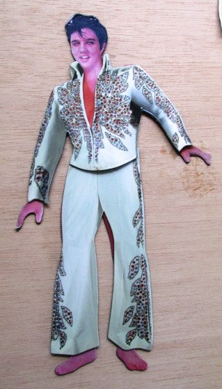 Elvis in Flame Jumpsuit