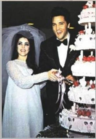 Elvis and Priscilla at Wedding, May 1, 1967 in Las Vegas