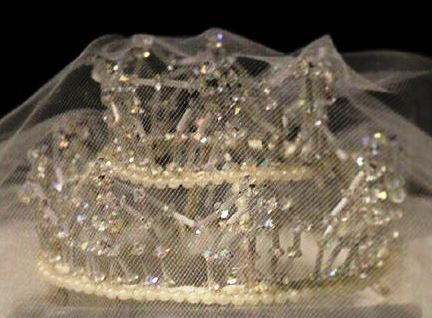 Priscilla Presley's wedding crowns