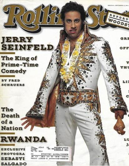 Rolling Stone Cover o Seinfeld in Elvis Jumpsuit
