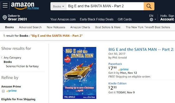 Amazon Page. BIG E and the Santaman - Part 2