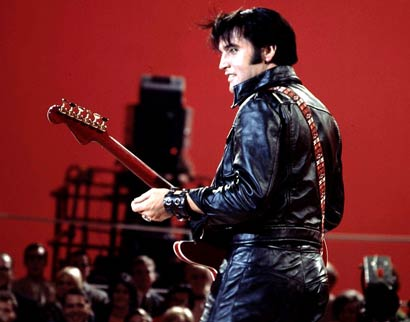 Elvis - 68 Comeback Black Leather - Back