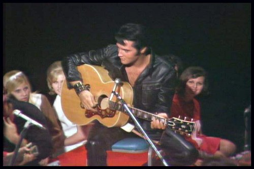 Elvis - 68 Comeback Black Leather Seated