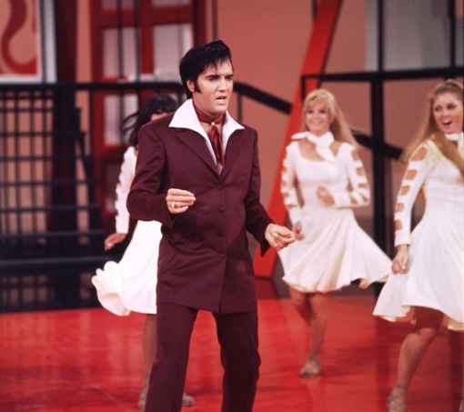 Elvis 68 Comeback Dancing in Gospel Outfit