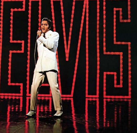 Elvis 68 Comeback White Suit Standing