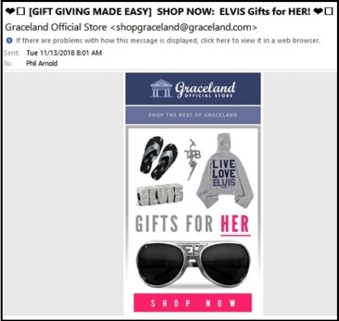 Elvis Gifts for Her 11- 13