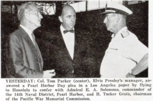 Col. Parker and Bigwigs Before Pearl Harbor concert