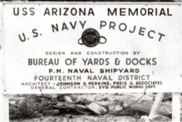 USS Arizona Memorial Construction Sign