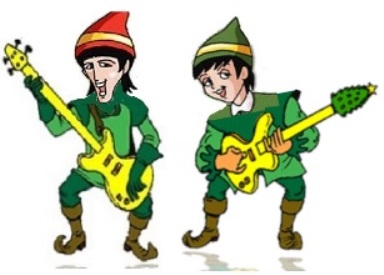 Elves Playing Guitars in Big E and the Santa Man