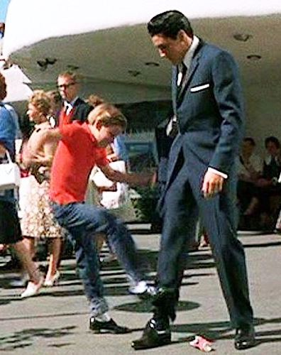 Kurt-Russell Kicking Elvis in It Happened at the World's Fair