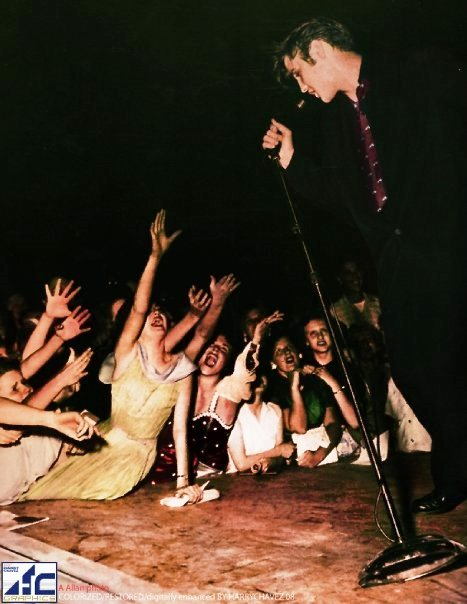 Girls Reaching for Elvis