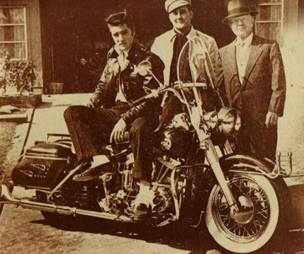Elvis and His First Big Bike Harley-Davidson FLH