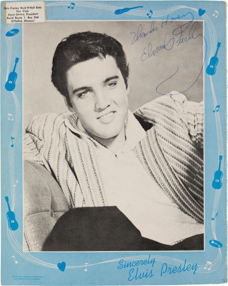 Elvis' Autograph on Magazine Page, Circa 1957