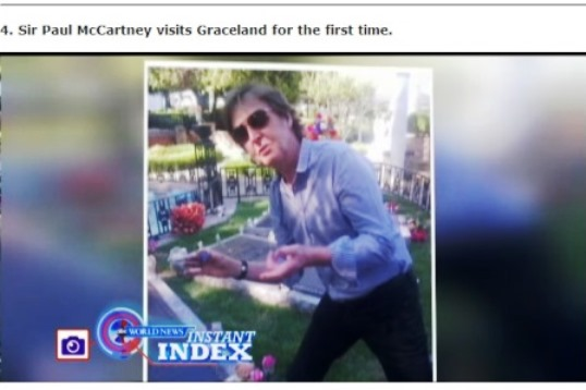 Paul McCartney Visits Elvis' Graceland