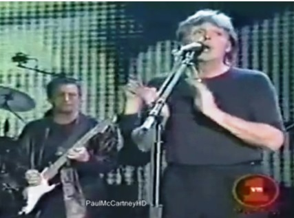 Paul McCartney and Eric Clapton Singing Blue Suede Shoes