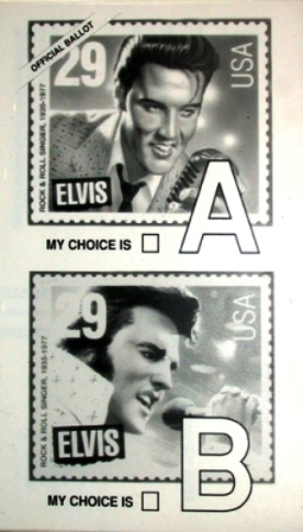 Ballot for Elvis Stamp
