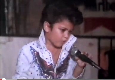 Bruno Mars Doing Elvis in Viva Elvis