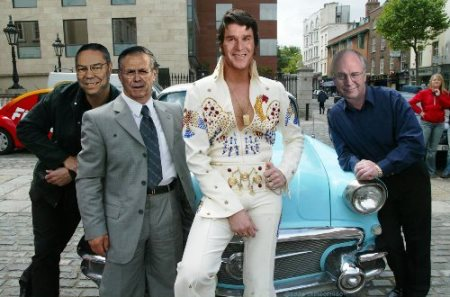 Bush in an Elvis Jumpsuit