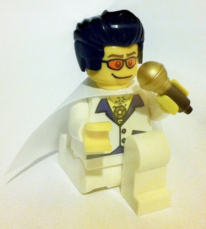 Weird Scientist LEGO Elvis