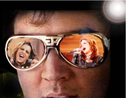 Elvis Sunglasses With Lisa Reflections