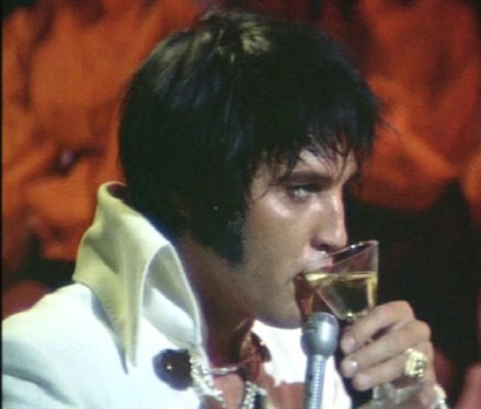 Elvis - has situation under control, and with a signature style