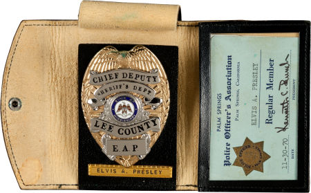 Elvis' Chief Deputy Badge For Lee County Mississippi