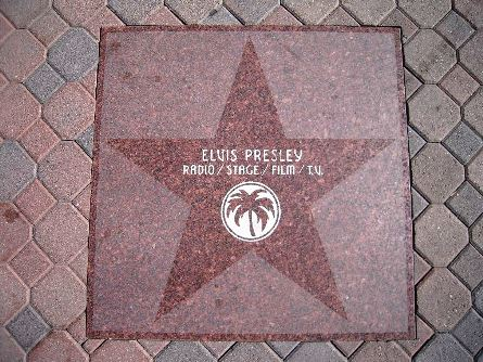 Elvis on Walk of Fame, Hollywood