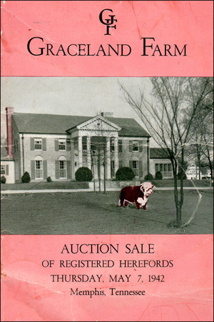 Graceland Farms cattle auction 1942