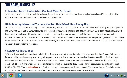 Announcement of Trauma Center Fan Donor Reception
