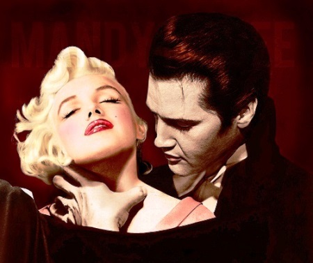 Dracula Elvis and Marilyn Monroe