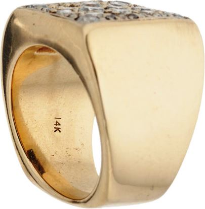 Elvis' Gold Ring with Diamonds - Side View