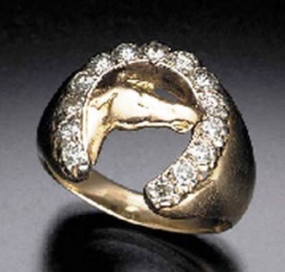 Elvis' Horse head-Horse Shoe Ring