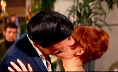 Elvis Kissing Debrah Whalley in Spinout