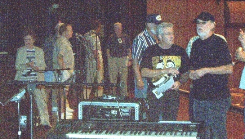Backstage at the Legends Concert - 8-15-04