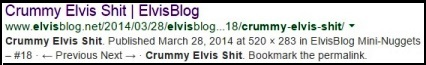 Crummy Elvis Shit -- Elvis Blog