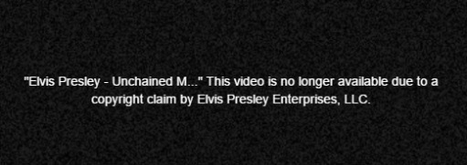 Elvis Video No Longer Available