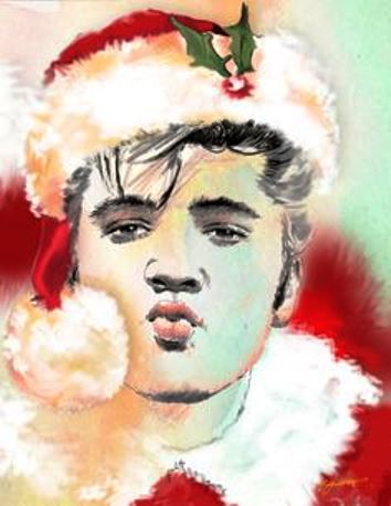 Pucker Up Elvis Santa