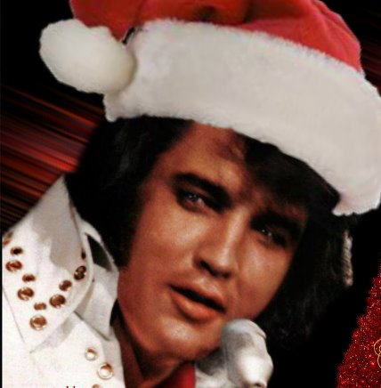 White Jumpsuit Elvis Santa