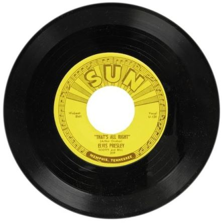 Elvis' Sun Record #209 45 RPM That's All Right