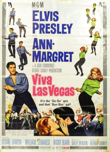lvis Viva Las Vegas Movie Poster, 1964