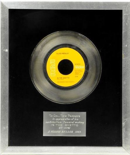RCA Award to Colonel Parker for In The Ghetto