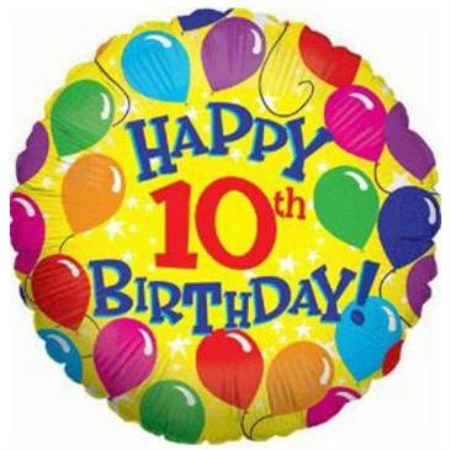 Happy 10th Birthday Cake