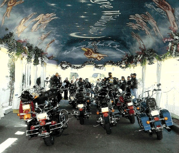 Bikes in Tunnel of Love