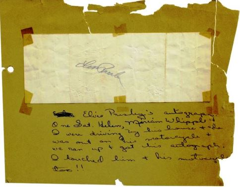 Early Elvis Autograph
