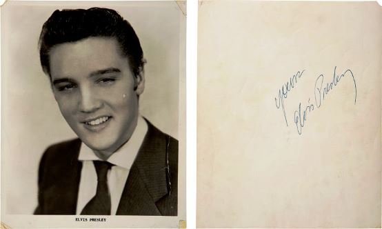 Elvis Signed Photograph