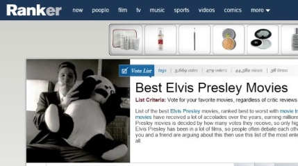 Ranker Elvis Movie Rankings