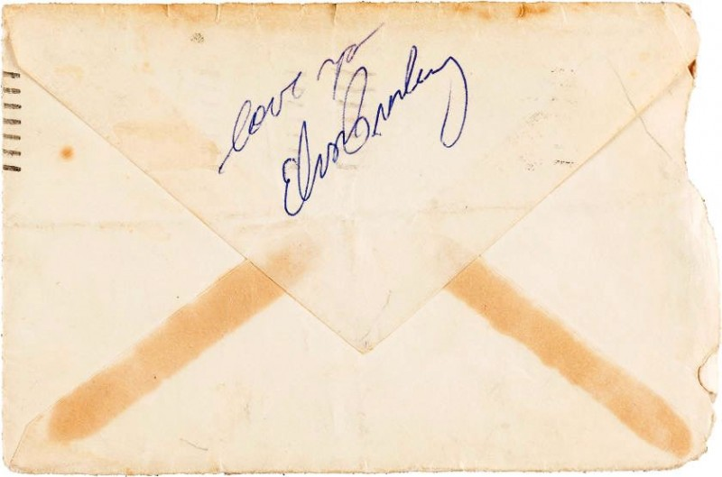 Elvis Signed Envelope
