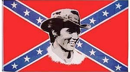 Elvis and Confederate Flag 1