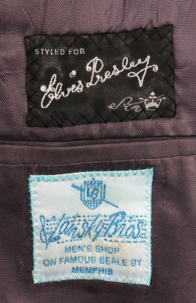 Elvis' Lansky Bros Custom Made Black Wool Jacket - Label
